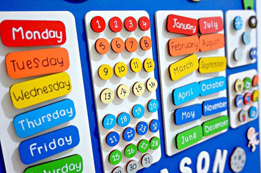 Personalised Childrens Space Calendar By Craftly