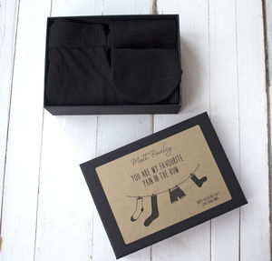 Personalised Underwear Gift Set Box