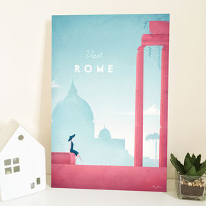 'Visit Rome' Travel Poster