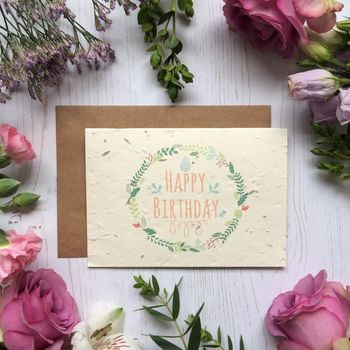 Plantable Birthday Card Grows Into Flowers
