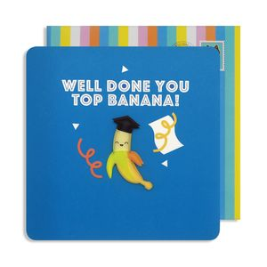 Well Done Top Banana Magnet Card
