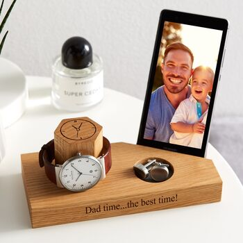Personalised Bedside Watch And Phone Stand
