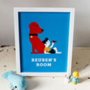 Dog And Plane Personalised Children's Room Print