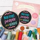 'Normal People Are Weird' Cross Stitch Kit