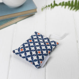 Safiya Lavender Bag, Blue And Orange Geometric Circles - new in home