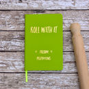 Roll With It Personalised Cookery Recipe Journal