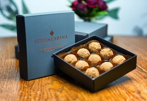 Vegan Salted Caramel Truffles - dietary food and drink