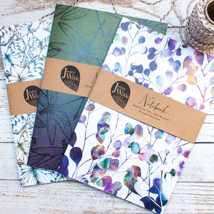 Botanical A5 Recycled Notebooks Multi Deal Of Three