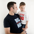 Personalised Big Kid Little Kid T Shirt Set