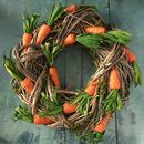 Carrot And Twig Easter Wreath