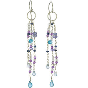Blue Gemstones Earrings