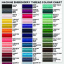 Embroidery colour options (note name and number)