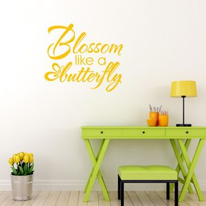 Blossom Like A Butterfly Vinyl Wall Sticker - home