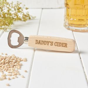Personalised Daddy Beer Bottle Opener - corkscrews & bottle openers
