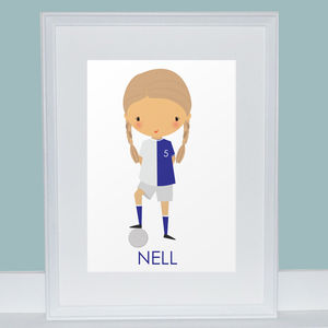 Personalised Girl Footballer