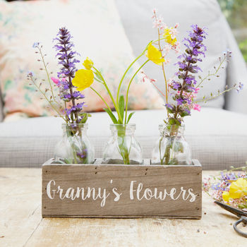 Personalised Bottle Flower Holder