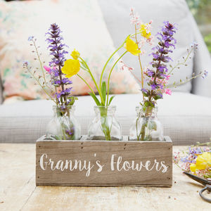 Personalised Bottle Flower Holder - table decoration