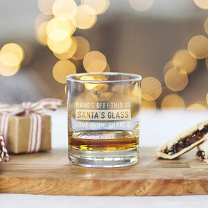 Personalised Glass For Santa