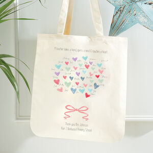 Personalised Teacher Tote Gift Bag