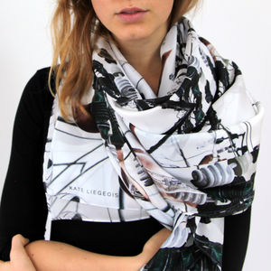 Lamplight Silk Scarf