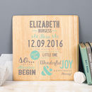Personalised Christening Gift Print On Wood