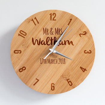 Personalised Wedding Keepsake Clock
