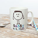 Personalised Daddy Est Ceramic Mug