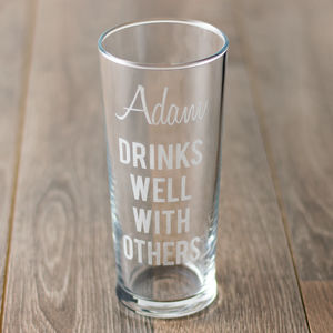 Personalised Drinks Well With Others Pint Glass