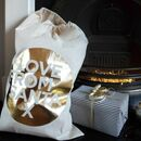 Love From Santa Cotton Christmas Gift Sack