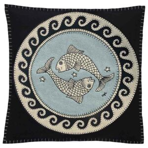 Hand Embroidered Pisces Cushion