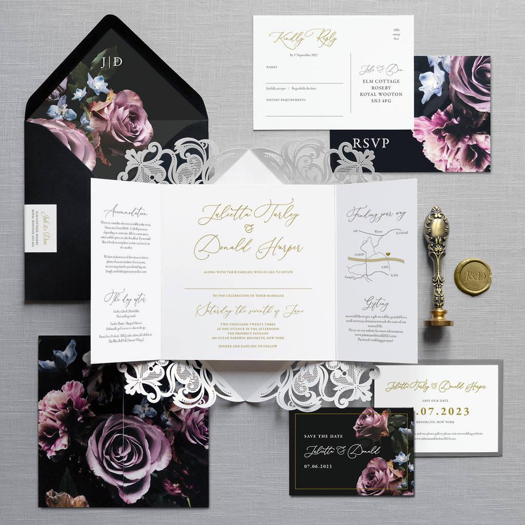 victoria folding wedding invitation by feel good wedding invitations