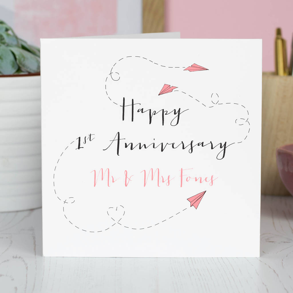 Personalised First Anniversary Card