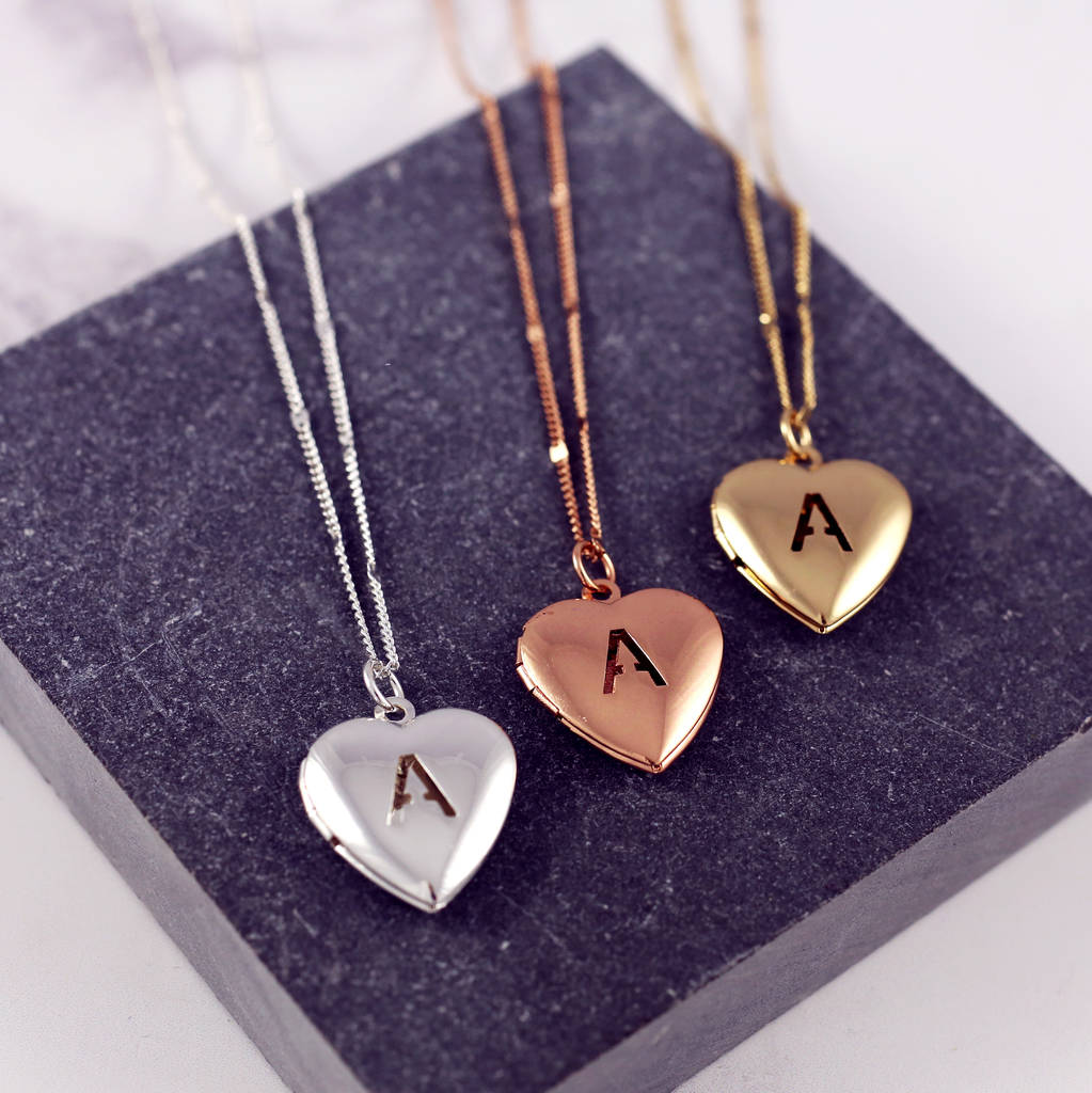 locket notonthehighstreet necklace lockets letter envelope personalised necklaces and com for original jewellery women heart