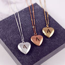 Personalised Heart Letter Locket Necklace