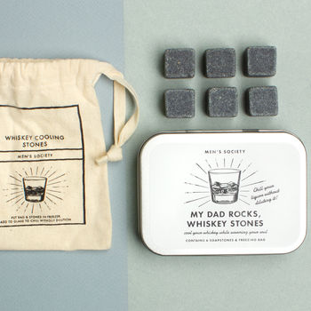 'My Dad Rocks' Whiskey Stones Gift Set
