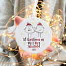 Personalised 1st Christmas As A Married Couple Bauble