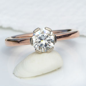 Moissanite Engagement Ring - unusual engagement rings