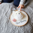 Pompom Bunny Personalised Hoop