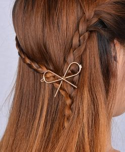 Gold Or Silver Bow Hair Clip - hair accessories