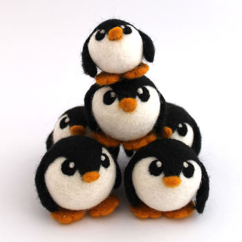 Needle Felted Penguin Decoration