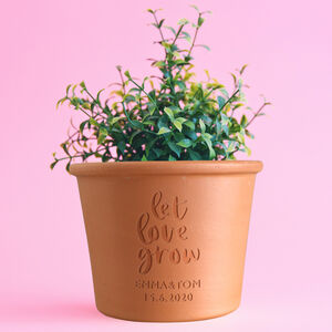 Personalised Let Love Grow Plant Pot