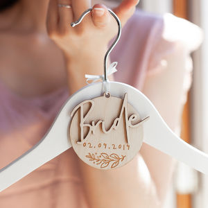 Personalised Bride Hanger Charm