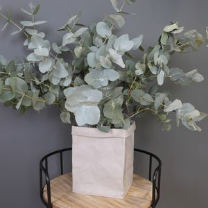 Square Grey Paper Plant Pot