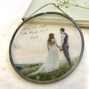 Personalised Glass Framed Circle Any Photograph