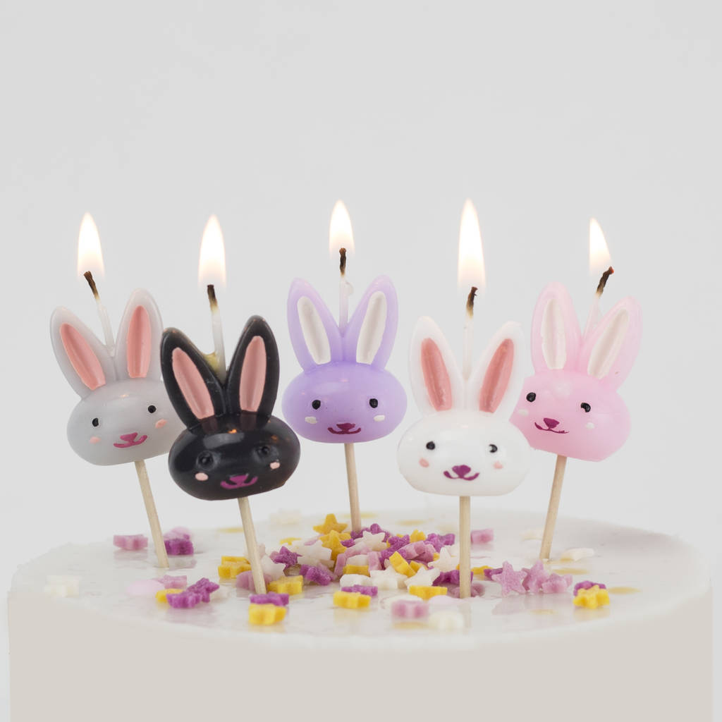 rabbit cake candles birthday bunny easter by we love to create