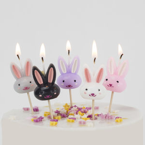 Rabbit Cake Candles Birthday Bunny Easter