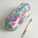 Rose Print Bella Make Up Bag In Pink Or Blue