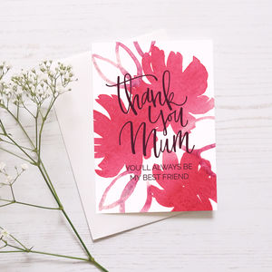 Mother's Day Card 'My Best Friend' - mother's day cards