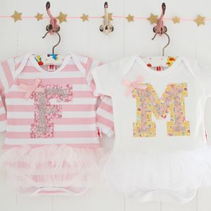 Baby Girl Personalised Tutu Bodysuit