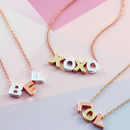 Mixed Metal Mini Letter Necklace